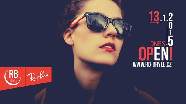Nově otevřený e-shop s brýlemi Ray Ban