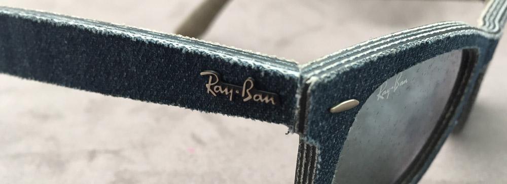 Logo Ray Ban na sklíčkách